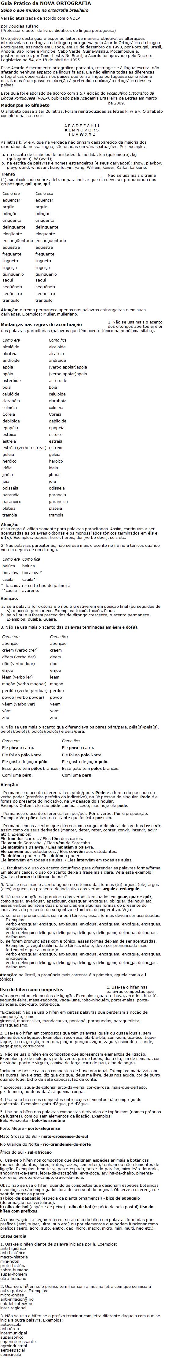 Guia prático da nova ortografia brasileira