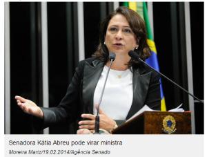 Foto senadora Katia Abreu