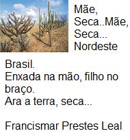poema sobre a seca