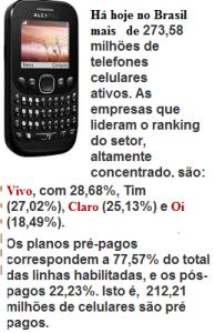 celulares pré pgpos e pós pagos 2014