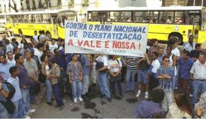 foto contra a privatização da Vale